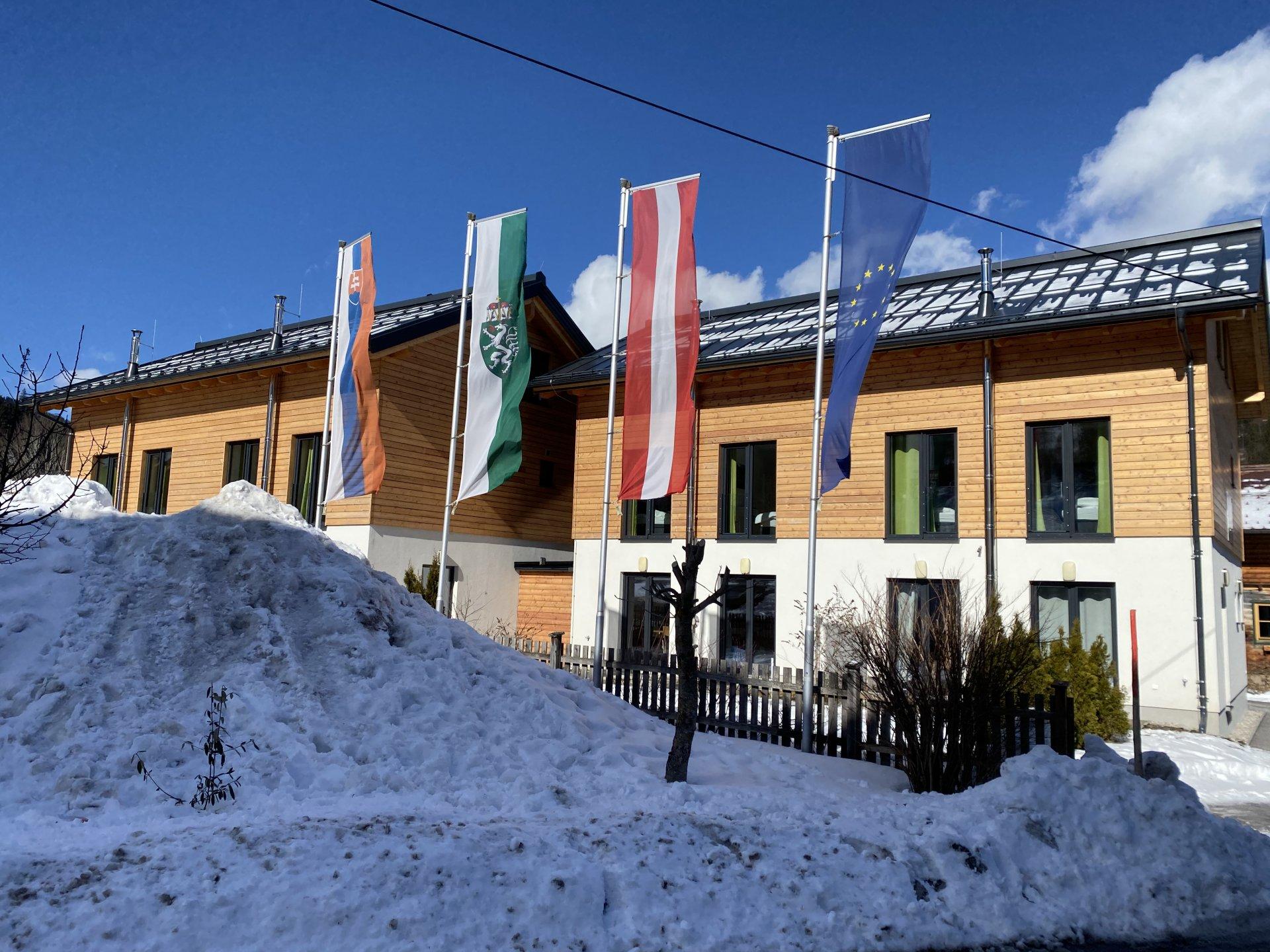 Rakúsko - zima v Alpách